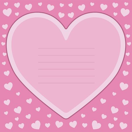 Romantic greeting card with a Valentine's day. Vector illustration. Vetores