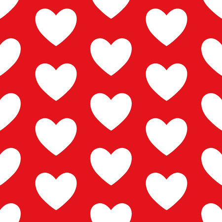 Romantic pattern with hearts. St. Valentine's Day. Vector background. Vettoriali