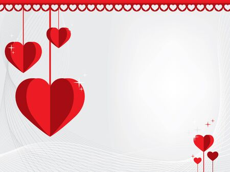 Romantic abstract Valentines Day greeting card Illustration