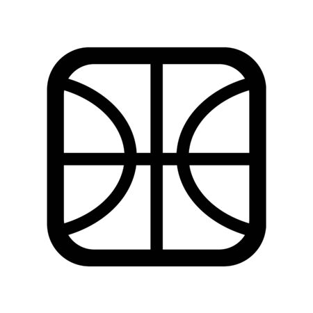 Basketball symbol of the square form isolated. Çizim