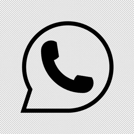 The icon of the handset that is ringing. Icon for messenger and social networks.