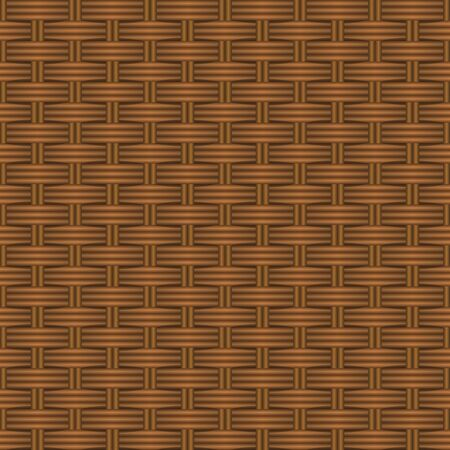 Texture of a basket made of grapevine. Vector background pattern. Illustration.