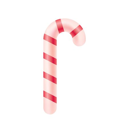 Christmas candy from Santa. Sweet treat as a gift and for decoration of any design. Realistic isolated illustration. Vector. Object. Çizim