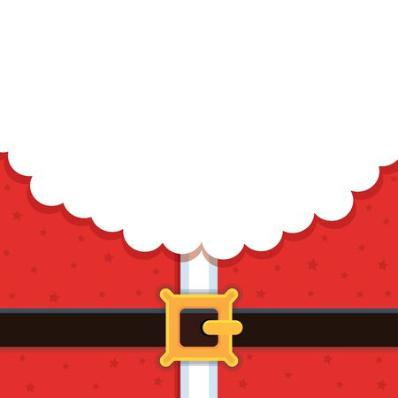 Christmas background for greeting card. Santa. Cartoon. Vector illustration. Copy space. Drawing. Çizim