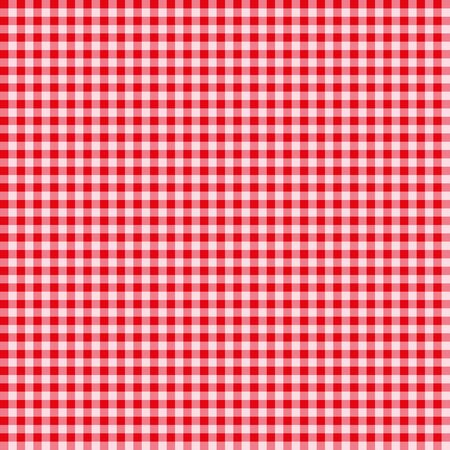 Checkered red geometric seamless pattern. Textile background. Wallpaper. Vector illustration.