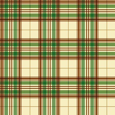 Seamless checkered texture of green color. Textile background. Wallpaper. Vector illustration. Cloth. Çizim