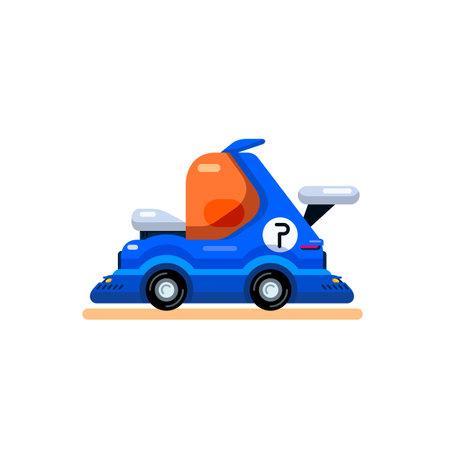 Car in cartoon flat style for mobile and browser games. Vector illustration. Ilustración de vector