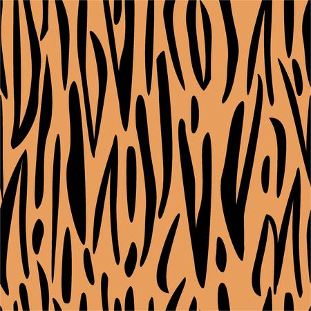 Modello senza cuciture con stampa tigre. Stile africano predatore Vettoriali