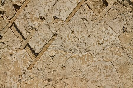 texture of an old ruined wall of the building