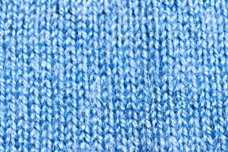 the texture of blue wool knit braid photo