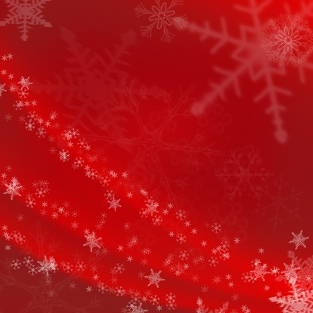 Christmas abstract background with snowflakes in winter photo