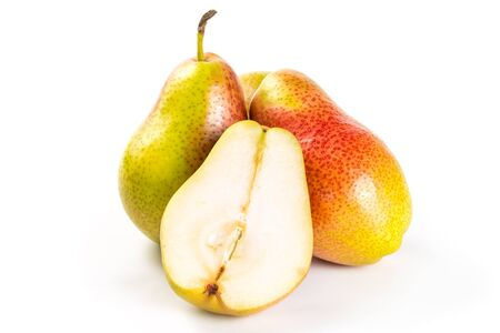 Ripe pears isolated on a white background  photo