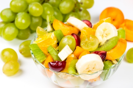 Salad of fresh ripe fruits and berries
