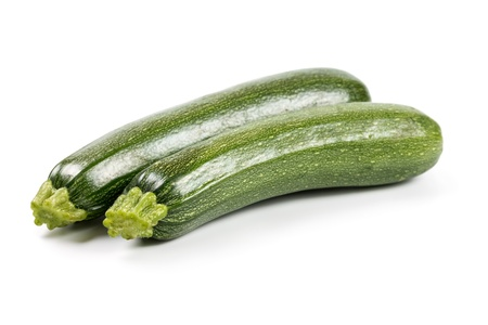 Fresh zucchini ​​isolated on a white background