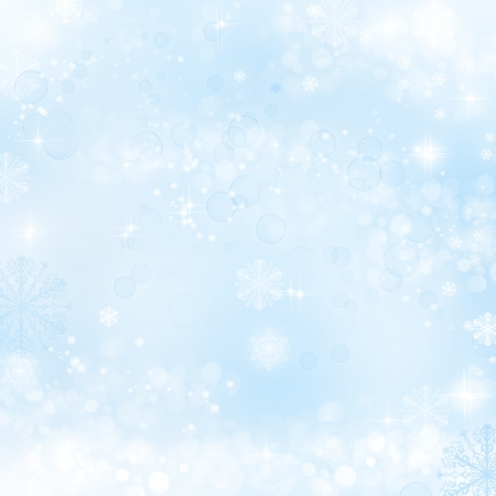 Abstract christmas background with snowflakes in winter