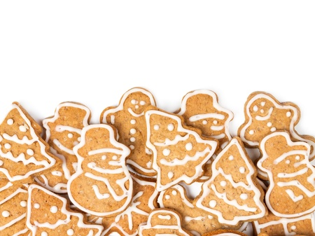 Christmas cookies different form on a white background Stock Photo - 21688036