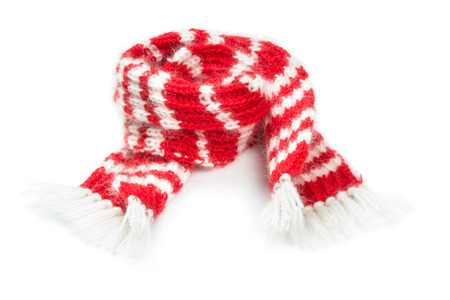 woolen scarf isolated on white  photo
