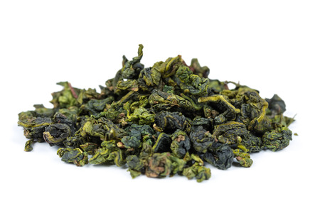 Chinese Tie Guan Yin tea isolated on white background
