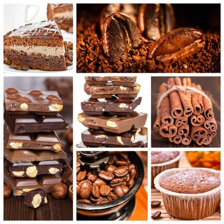 Collage of dessert. photo