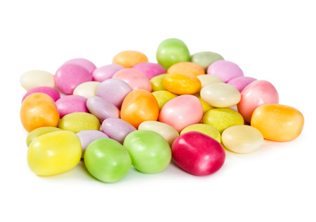dragees: Colorful dragees candy isolated on white background