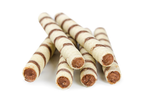 tubules: Wafers in the form of sticks isolated on white background