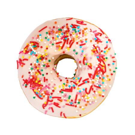 흰색 배경에 고립 된 화려한 장식과 도넛 형입니다. 평면도.