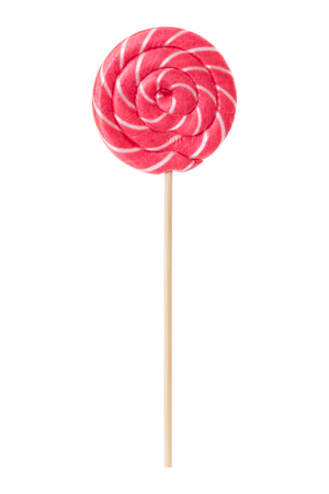 lolli: Sweet lollipop pink colors isolated on white background.