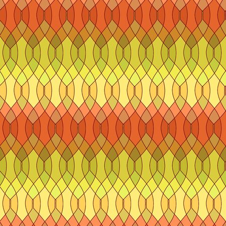 Mosaic leaves abstract seamless pattern, vector Vector
