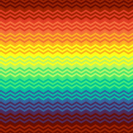 Mexican blanket colorful zigzag seamless pattern, vector Vector