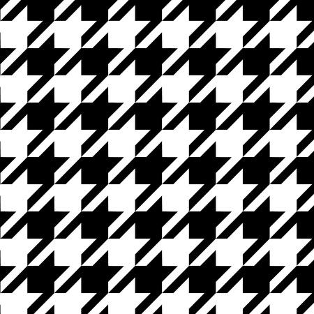 tela blanca: Houndstooth Modelo incons�til blanco y negro,