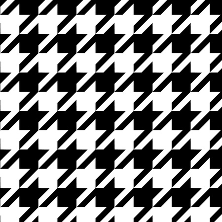 Houndstooth seamless pattern black and white,  Illustration
