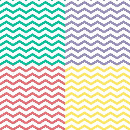zigzag: Set of simple zigzag seamless patterns,