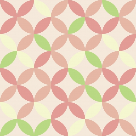 Crossing circles geometric seamless pattern,  Vector