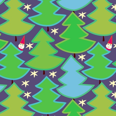 Christmas trees seamless pattern, vector Vector