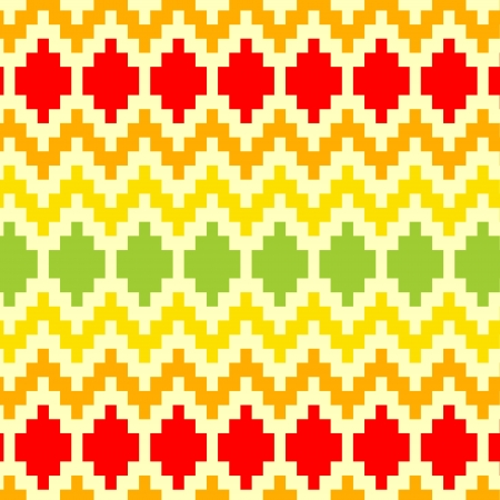 Colorful abstract ethnic geometric seamless pattern, vector Stock Vector - 15191464