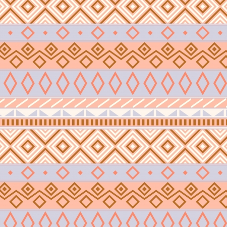 Native american traditional seamless pattern in pastel colors, vector Vector