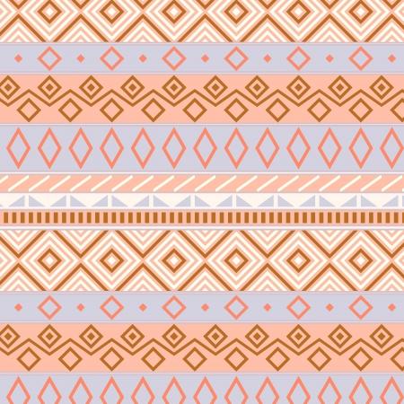pastel colours: Nativos americanos patr�n tradicional sin fisuras en tonos pastel, vector