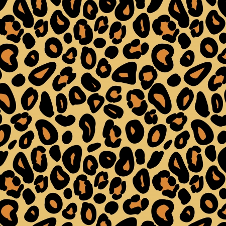 safari animal: Leopard skin seamless pattern, vector