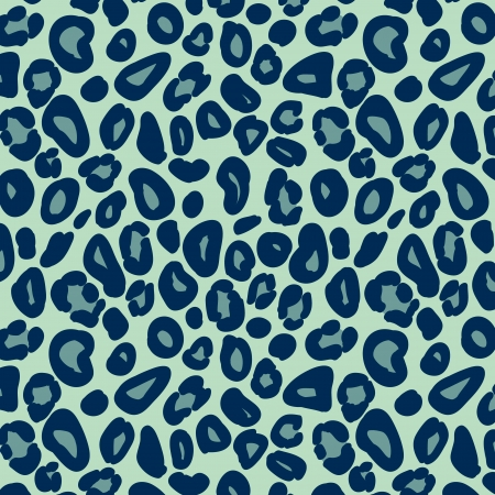 Leopard skin in blue seamless pattern, vector Illustration