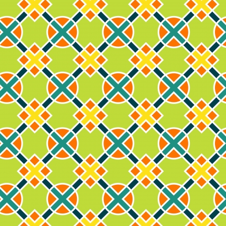 Colorful geometric abstract seamless pattern Illustration