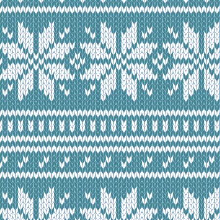 sueteres: Patr�n de su�ter escandinavo sin costura en azul