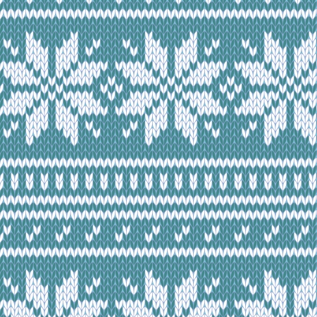 warm clothing: Scandinavian sweater seamless pattern in blue