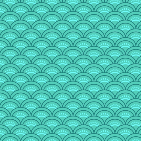 Traditional japanese waves seamless pattern Vector