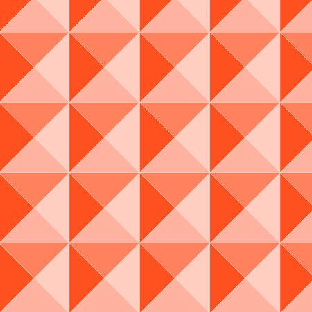 Orange pyramid relief seamless pattern, vector Vector