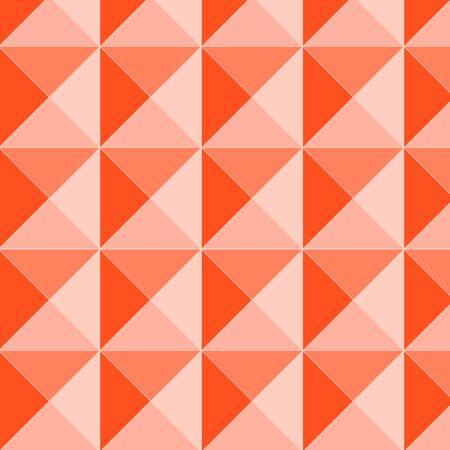 checkered volume: Orange pyramid relief seamless pattern, vector