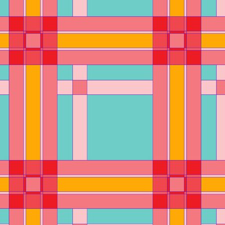 Colorful checkered seamless pattern Stock Vector - 15258910