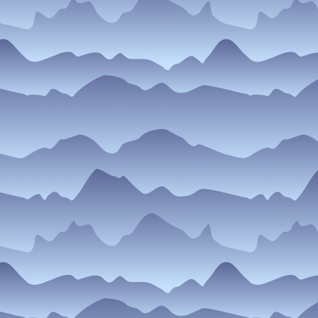 Mountains in the fog seamless pattern