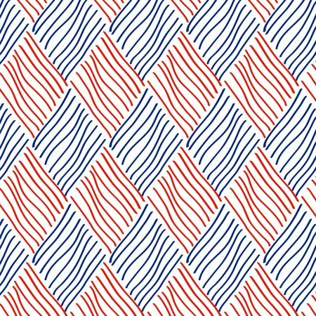 woven: Rhombus seamless pattern, vector