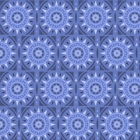Moroccan tile solar seamless pattern Vector