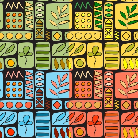 Patchwork seamless pattern, four colors set Stock Vector - 15769517